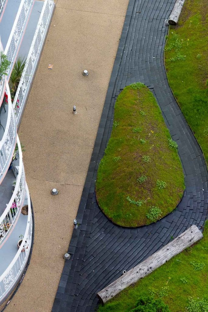 View from Above, Villa Maris Landscape Design, Gauthier and Associates Landscape Architecture, West Vancouver, BC.